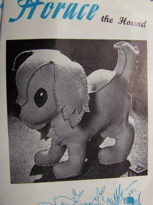 Vintage Horace the Hound Stuffed Dog Toy Sewing Craft Pattern ...