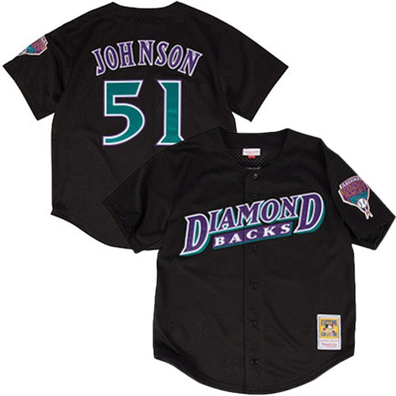 buy popular 7d04e 82312 Randy Johnson Arizona Diamondbacks Mitchell & Ness Fashion ...