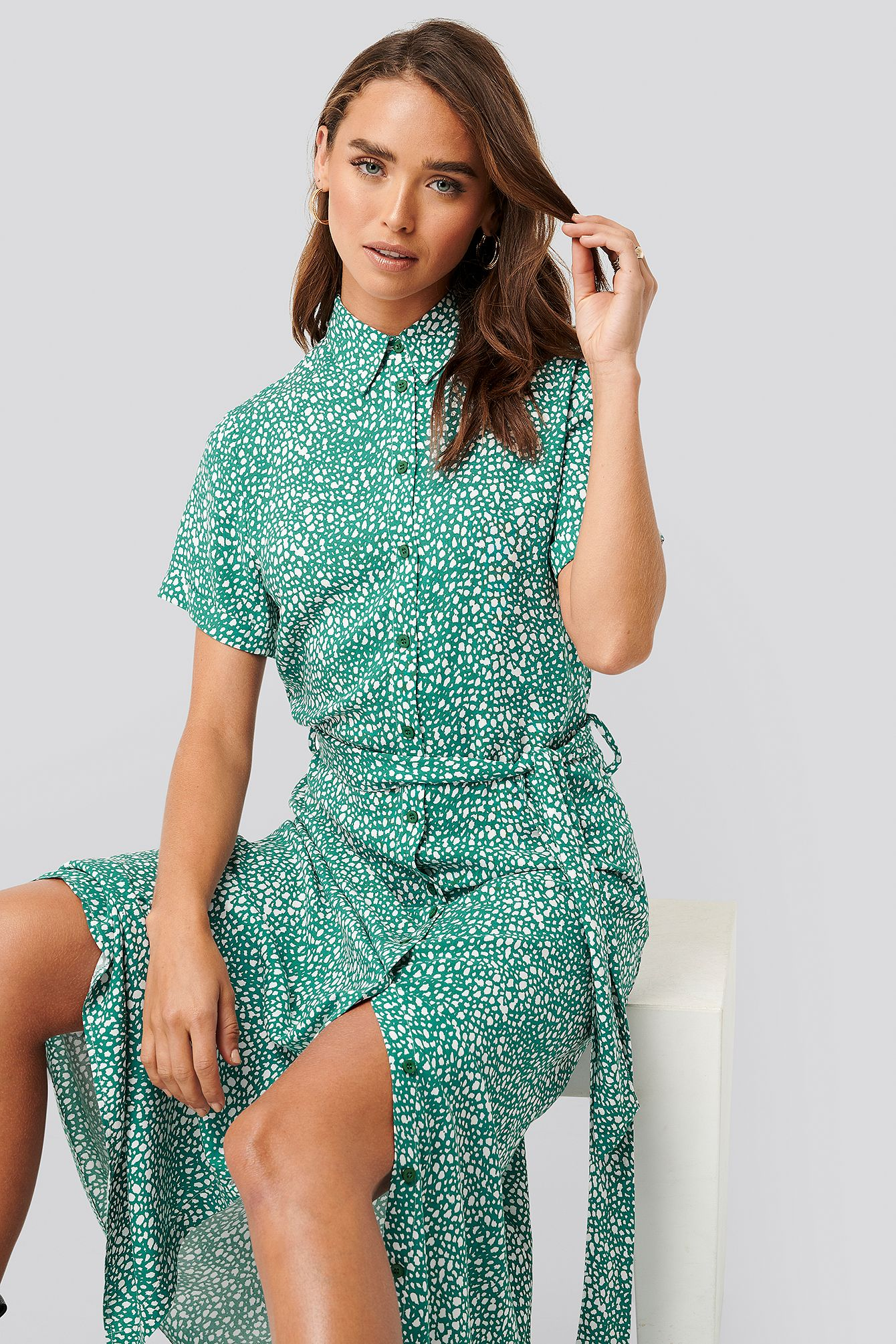 na-kd printed shirt dress - multicolor | modesens in 2020