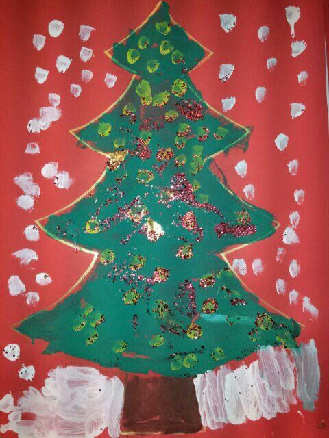 Kerstboom Schilderen Disney Kerst Kerst Kerstmis