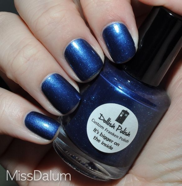 """""""It's Bigger On the inside"""" nail polish, every Doctor Who woman can have pretty blue nails!"""