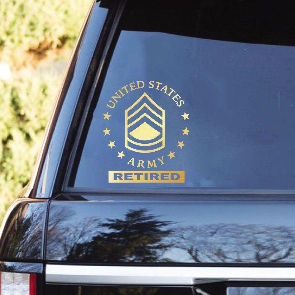 US Army Ranks Retired Clear Stickers | Navy ranks, Army ranks, Usmc ranks