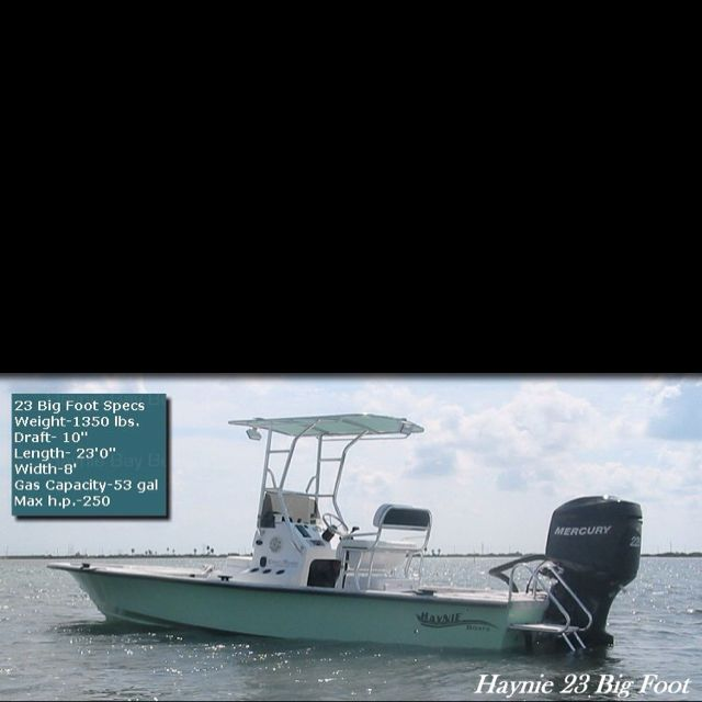 Haynie 23 bigfoot with 225 Mercury for those inshore bay