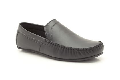 feee9565cb63 Mens Slippers in Black Leather - Kite Glide from Clarks shoes ...
