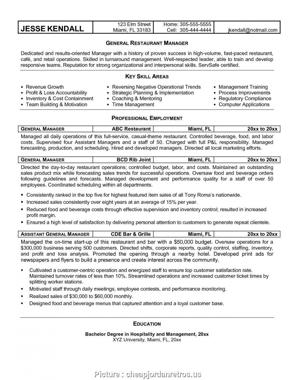 Hospitality Business Plan Template Restaurant Excele Resume Pertaining To University Of Miami Powerpoint Template Resume Examples Manager Resume Server Resume