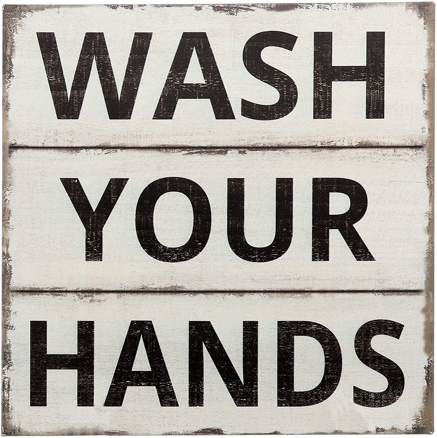Photo of Wash Your Hands Sign Primitive Country Farmhouse Bathroom Quotes Home Decor Sign 11Ó x 11Ó