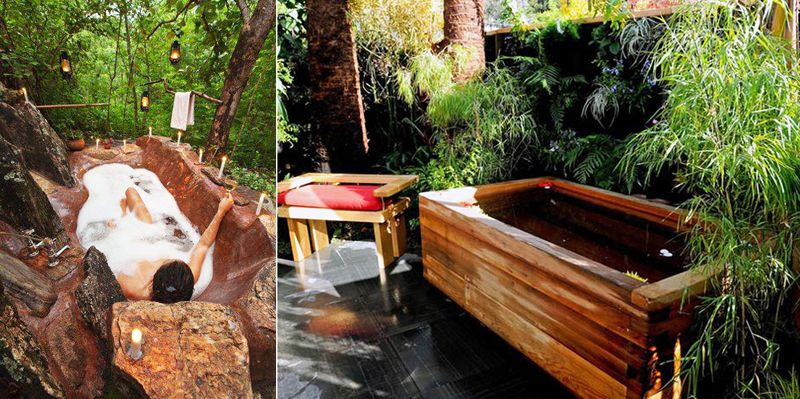 Beautiful 35 Ideas Of Outdoor Bathrooms That Go Into The Wild  Part 1