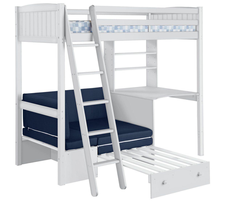 Best Buy Home Classic High Sleeper Bed Frame Blue Sofa Bed 640 x 480