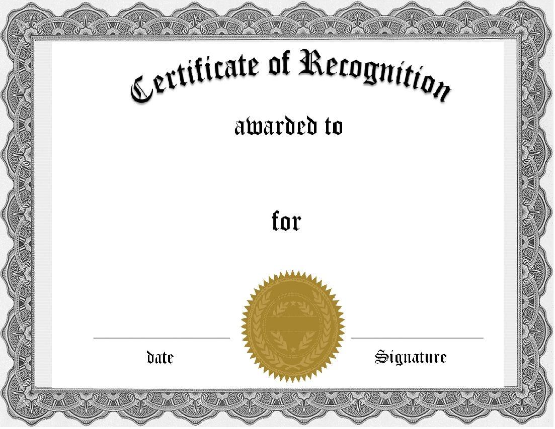 Free Editable Certificates Quick Certificates Templates F Free Printable Certificate Templates Awards Certificates Template Certificate Of Recognition Template