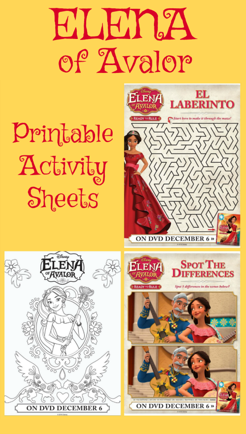 these free elena of avalor printable activity sheets include two coloring pages a maze and