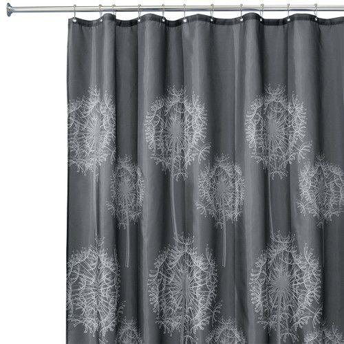 Found It At Wayfair Dandelion Shower Curtain Fabric Shower Curtains Curtains Charcoal Curtains