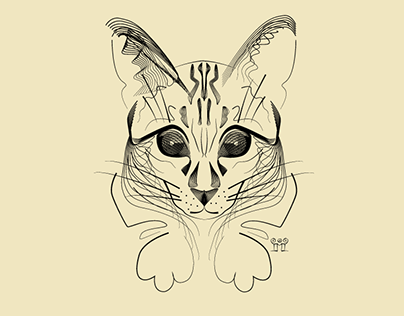 """Check out new work on my @Behance portfolio: """"Cat portrait"""" http://on.be.net/1O6wi6f"""