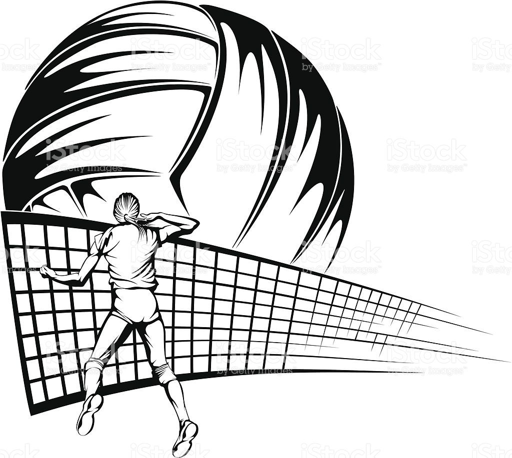 Vector Design Of A Female Volleyball Player Getting Ready