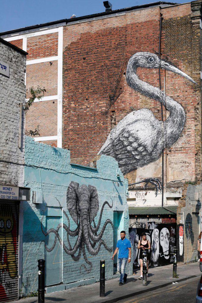 Shoreditch Market: Brick Lane, Old Spitafields Market, Shoreditch, East End