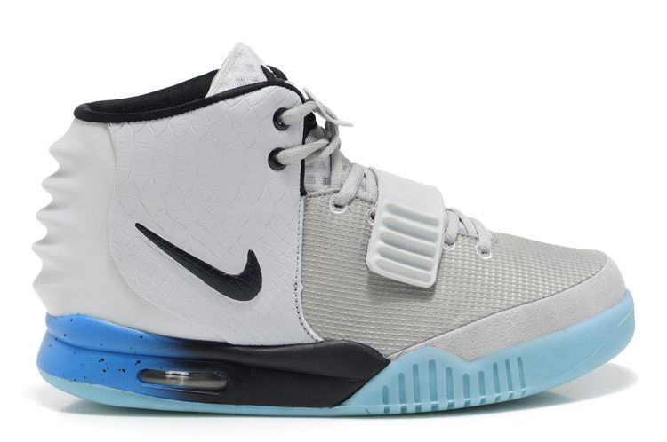 Kanye West Nike Air Yeezy 2 Grey Black Blue Shoes