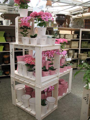 Wooden Displays Custom Wood Products Garden Center Displays Flower Shop Display Plant Display Ideas