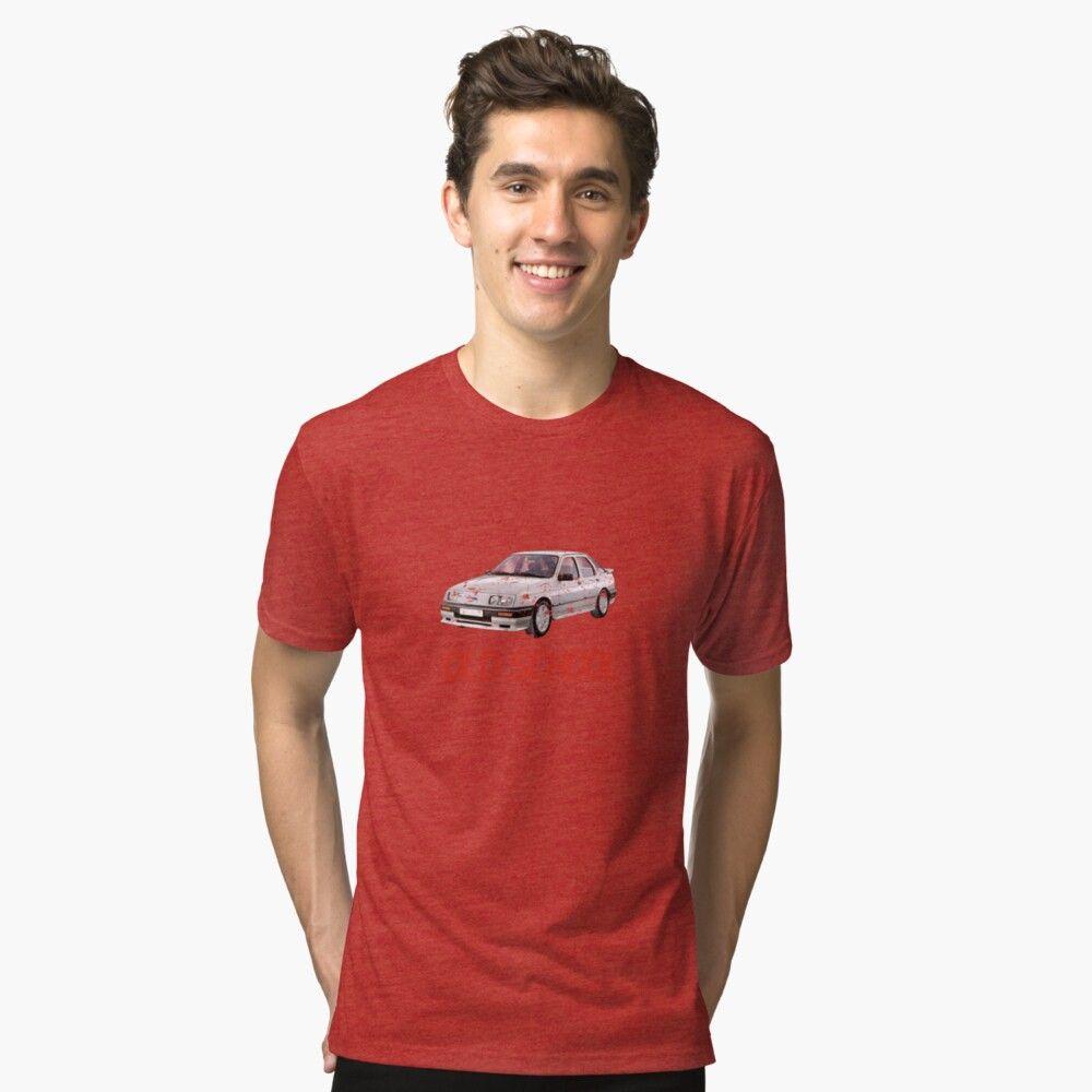 Ford Sierra Old School Lcd Font Tri Blend T Shirt By Ben Morley