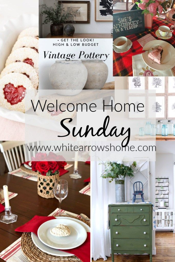 Welcome Home Sunday - inspiring home decor related posts from a group of talented bloggers.  #welcomehome #homedecor #decoratingideas #seasonaldecor