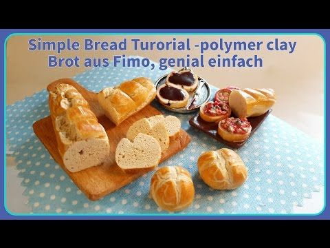 Simple Bread Tutorial - Polymer Clay by krikreativ, Brot aus Fimo, genial einfach!