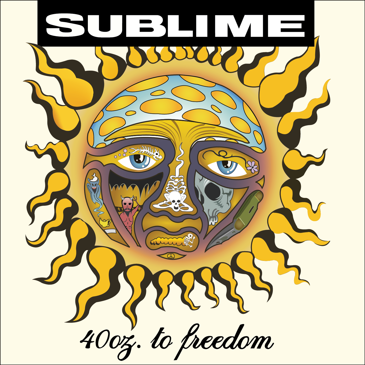 Image result for sublime 40oz to freedom album cover | Sculpture in ...