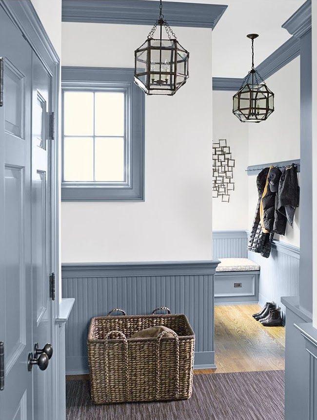 Foyer Mudroom Jobs : Entryway trim detail visual comfort pendant easter