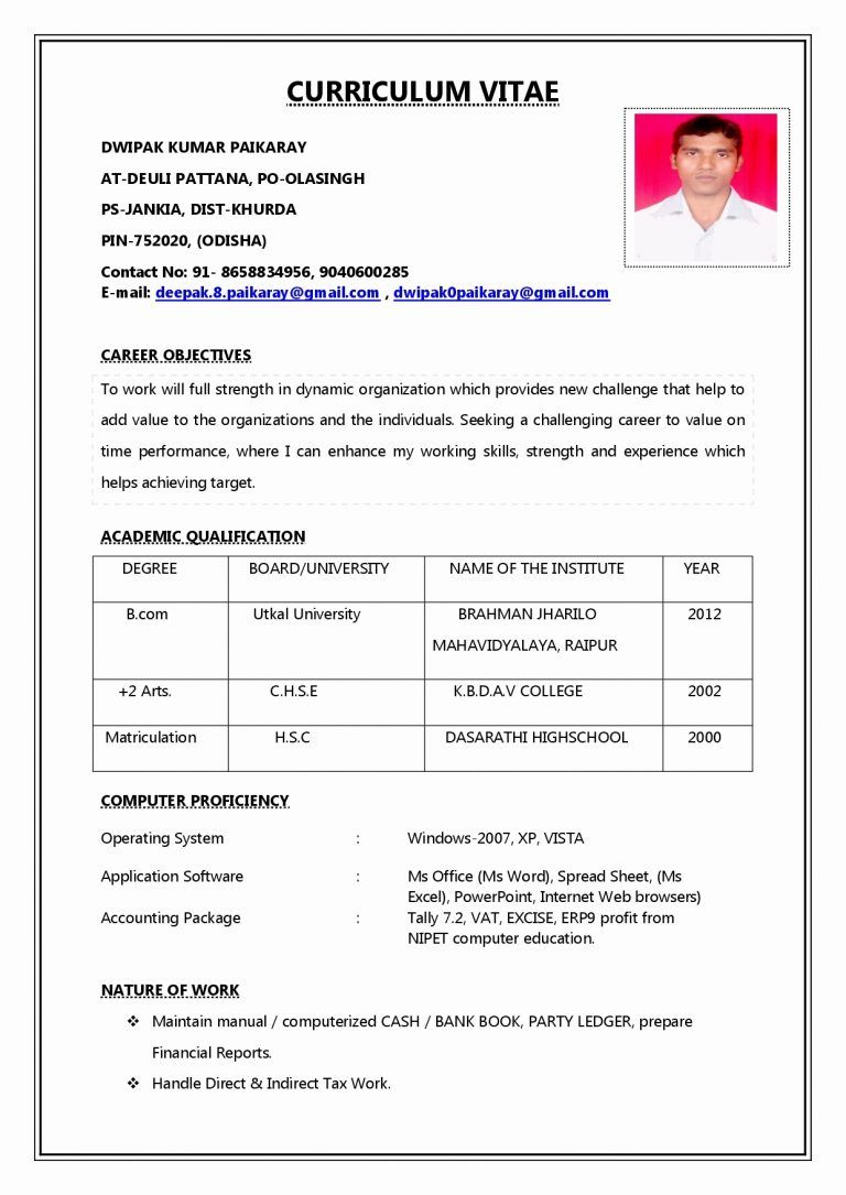 Pin by Jatin Tamta on jitendra kumar Job resume format