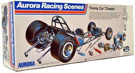 Aurora Funny Car Chasis Model Cars Kits Car Humor Model Kit