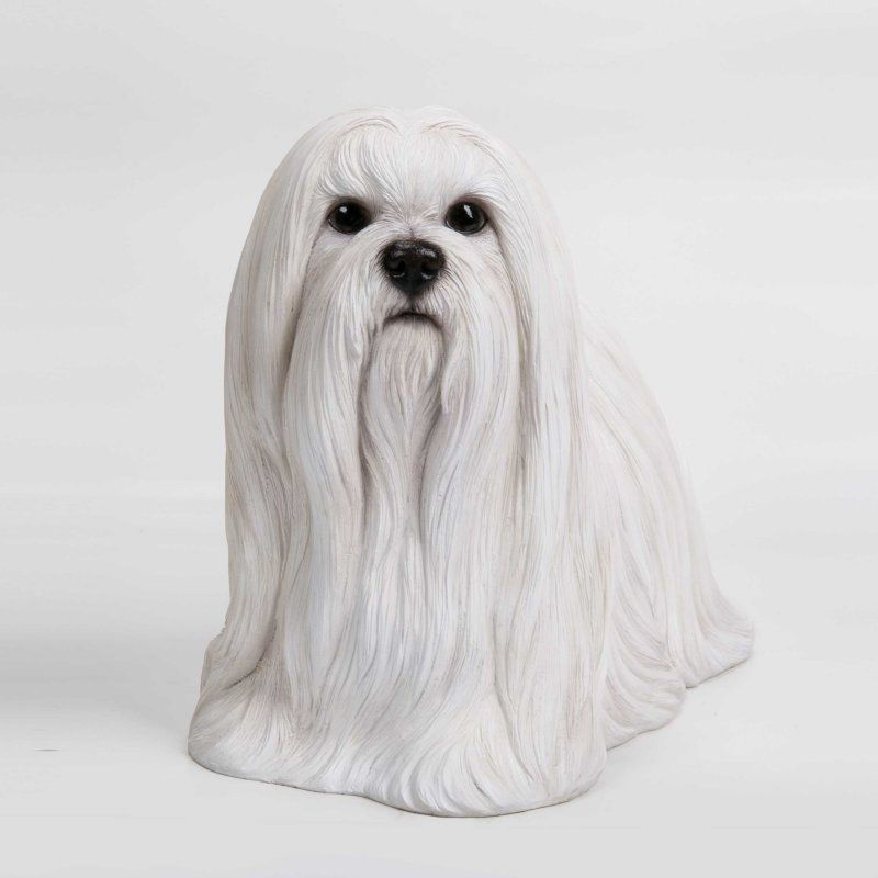 Hi Line Gift Ltd Maltese Indoor Outdoor Statue Maltese Maltese
