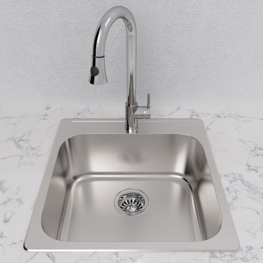 Cantrio Single Bowl 20 Sink Stainless Steel Kitchen Single