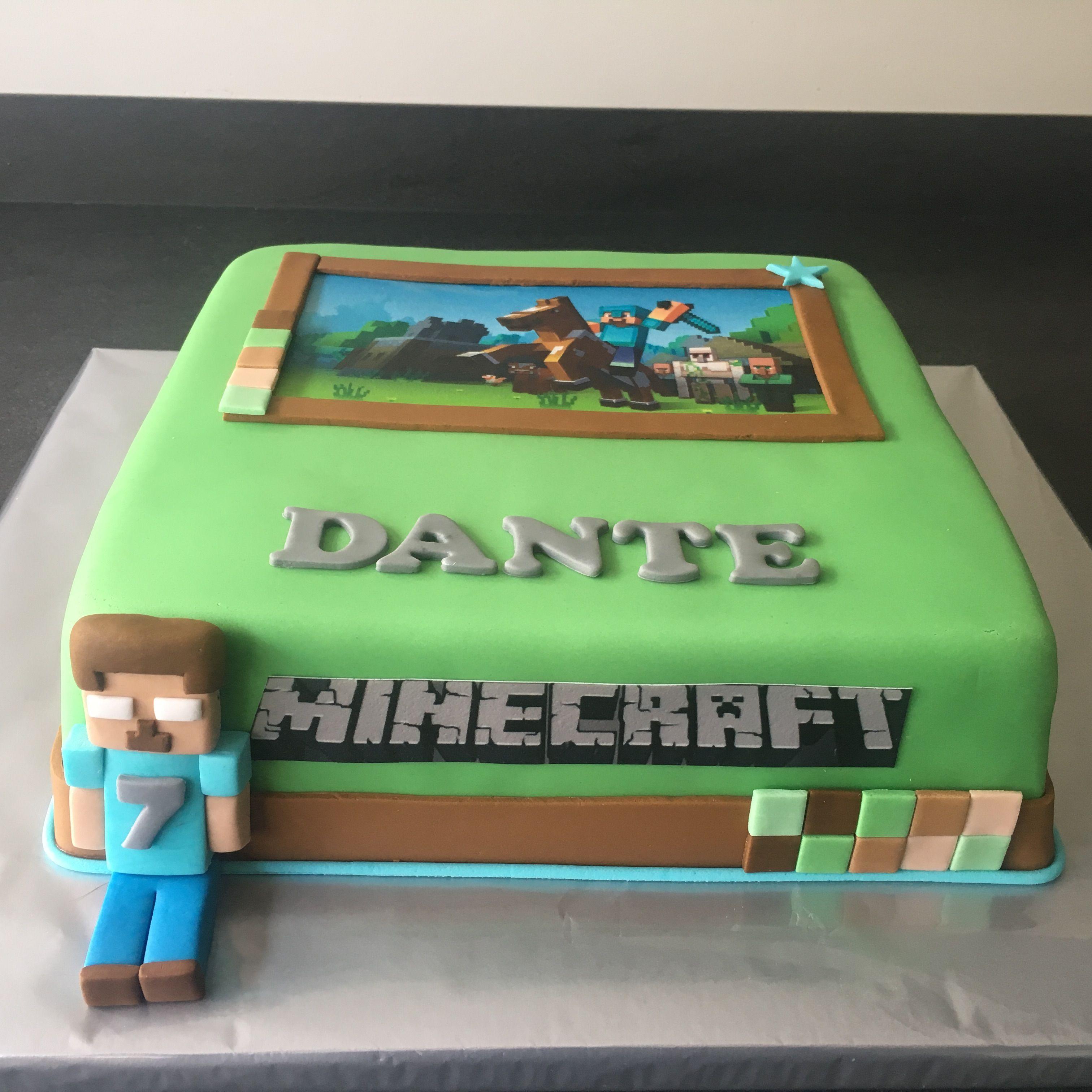 minecraft taart Minecraft taart   zelf gemaakte taarten   Pinterest minecraft taart