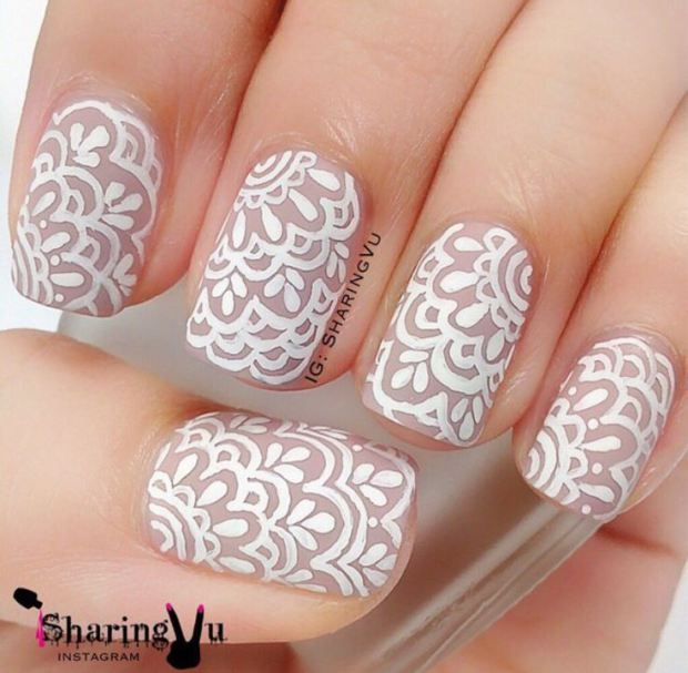Lace Nails by - 9a115e08de00acca5286826898a9afe8.jpg (620×607) Nail Art