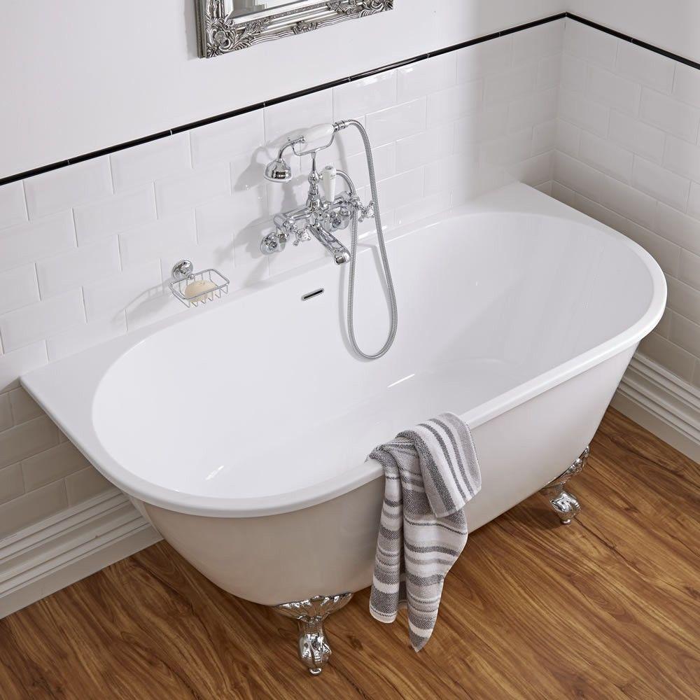 Acrylic Back To Wall Freestanding Bath Tub 60 Bathtubs
