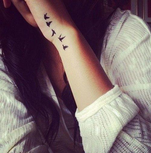 miniature wrists sparrow tattoos
