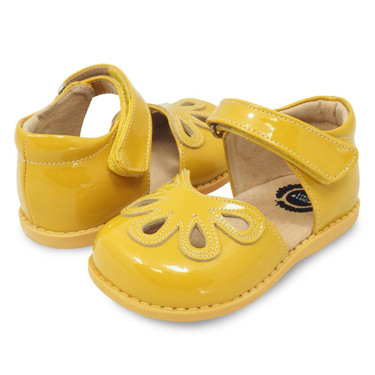 Petal Mary Jane for Toddler girls in yellow 865acc5e01