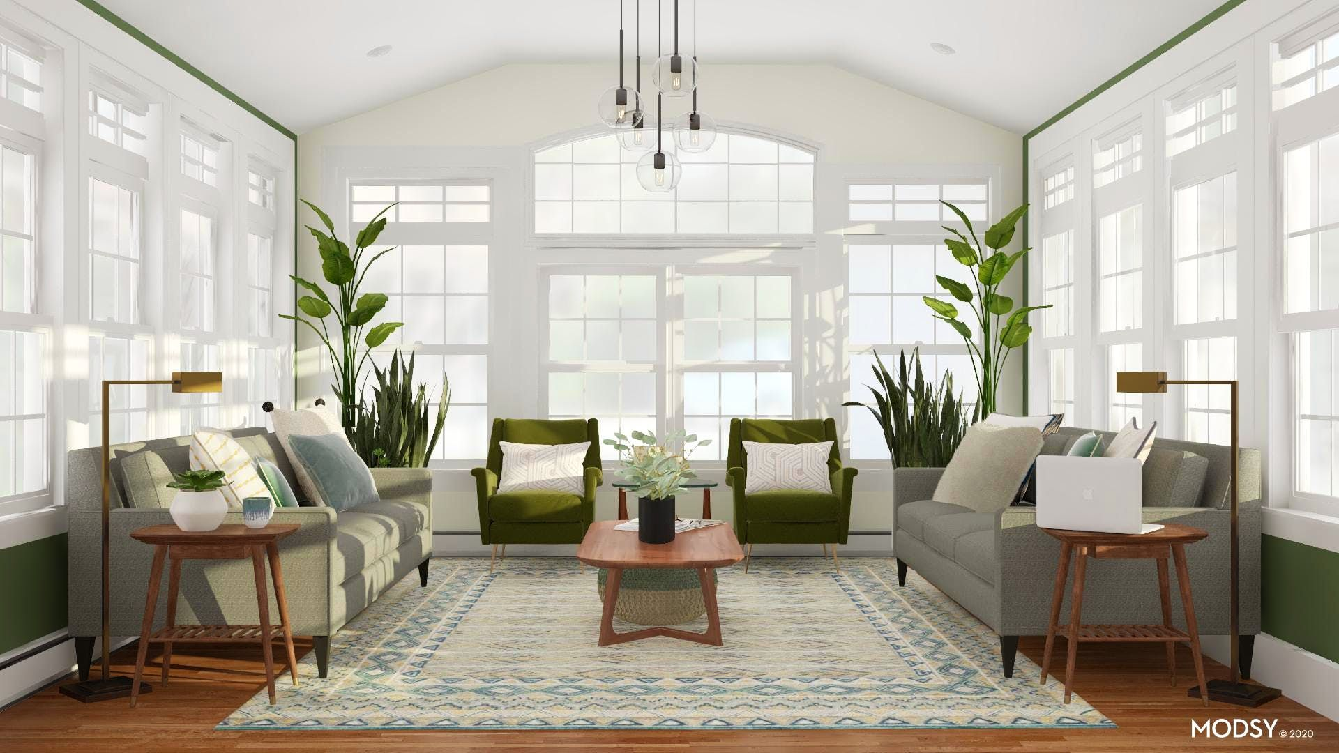 This Mid-Century Modern living room is the picture of uniformity ...