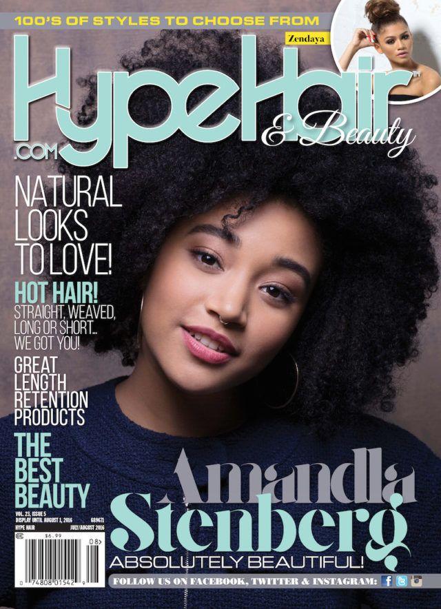 Amandla Stenberg on the July issue of Hype Hair Magazine ...