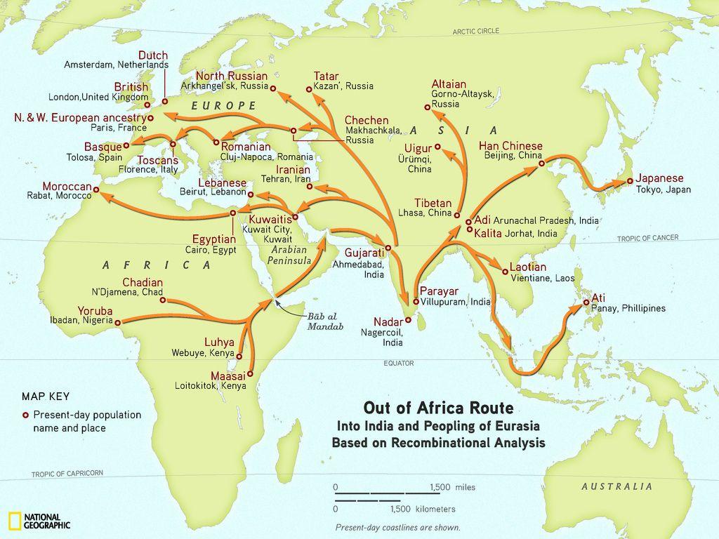 Geno Project Human Migration Map Human Migration Map Human