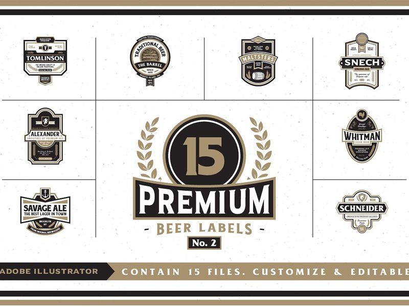 Premium Beer Labels No. 2 - FREE Download | Adobe illustrator and Adobe