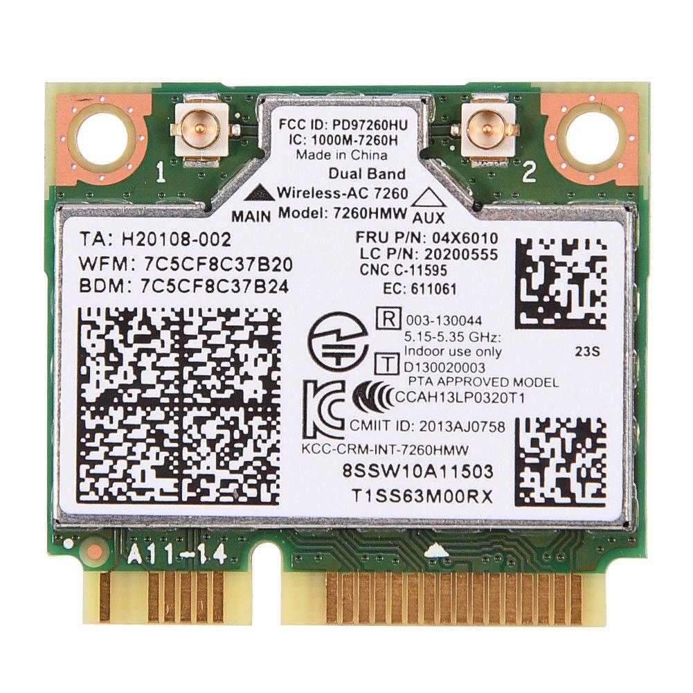 19 99 Aud For Intel 7260 7260hmw Ac Dual Band Wifi Bt 4 0 Wlan