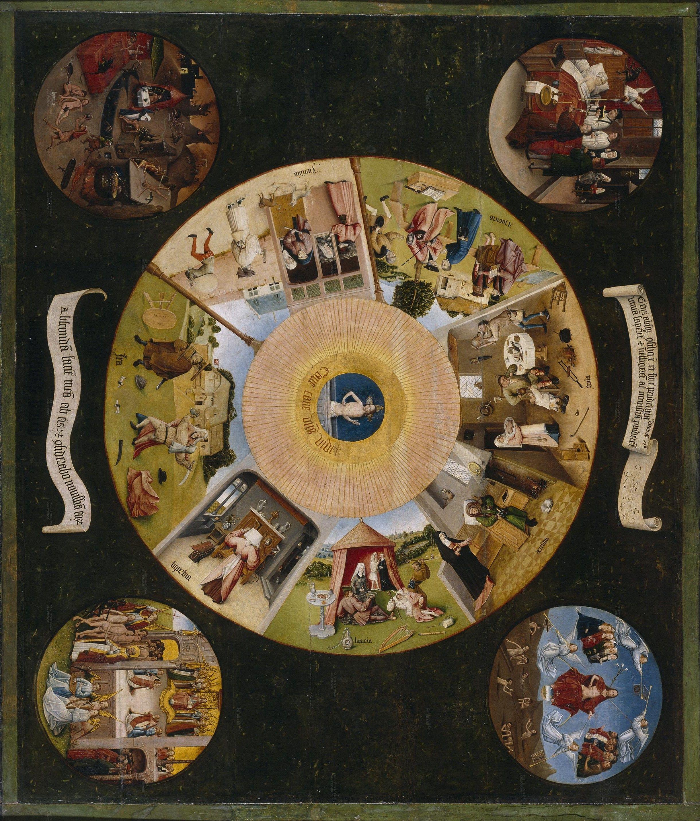El bosco mesa de los pecados capitales dante divina - La mesa de los pecados capitales ...