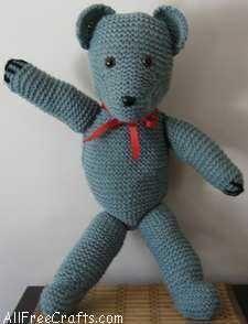 Free Weldon Teddy Bear Knitting Pattern #teddybearpatterns Free Weldon Teddy Bear Knitting Pattern #teddybearpatterns