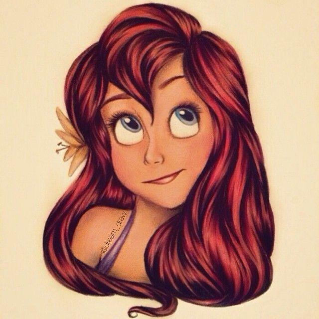 Ariel [as a mermaid] (Head Shots by Dream_Draw @Instagram) #TheLittleMermaid