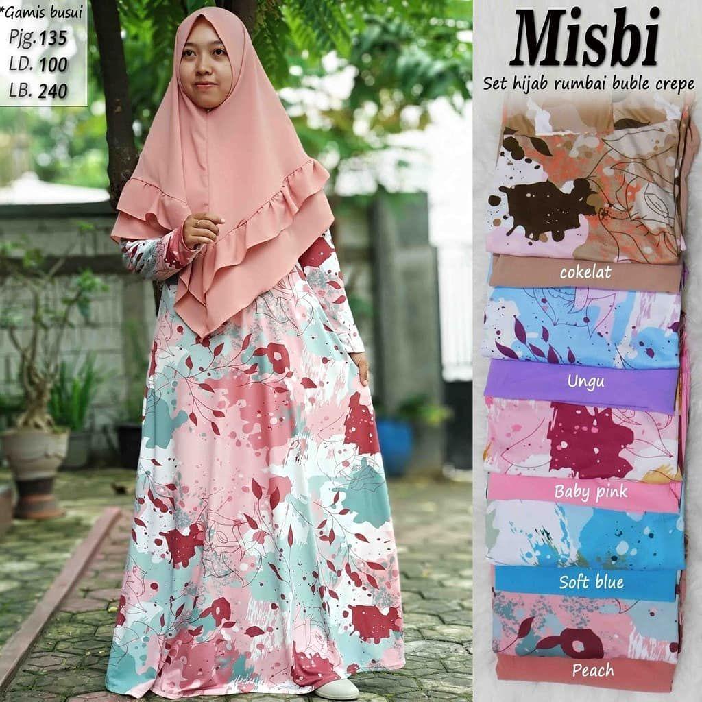 Ready Warna Ungu Gamis Misbi Motif Double Warna Set Hijab Rumbai Price 120 000 Gamis Bahan Misbi Khimar Laser Buble Crepe Kain Tebal Dan Jatuh A