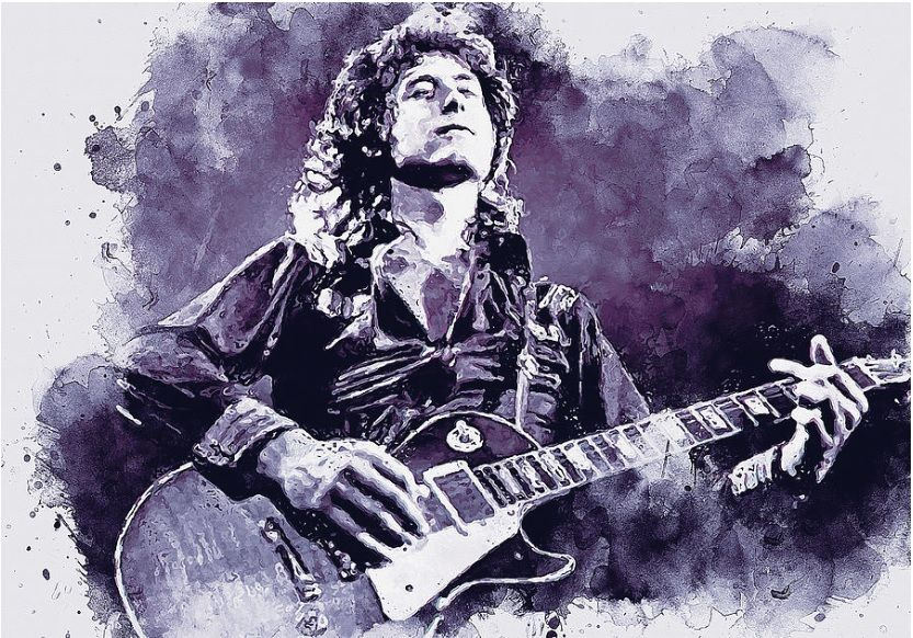 JIMMY PAGE LED ZEPPELIN CANVAS WALL ART PICTURES PRINTS VARIETY OF SIZES
