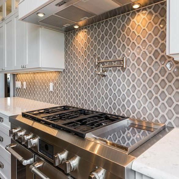 Nova Hex Smoke Ceramic Mosaic Tile 5 X 5 5 In In The
