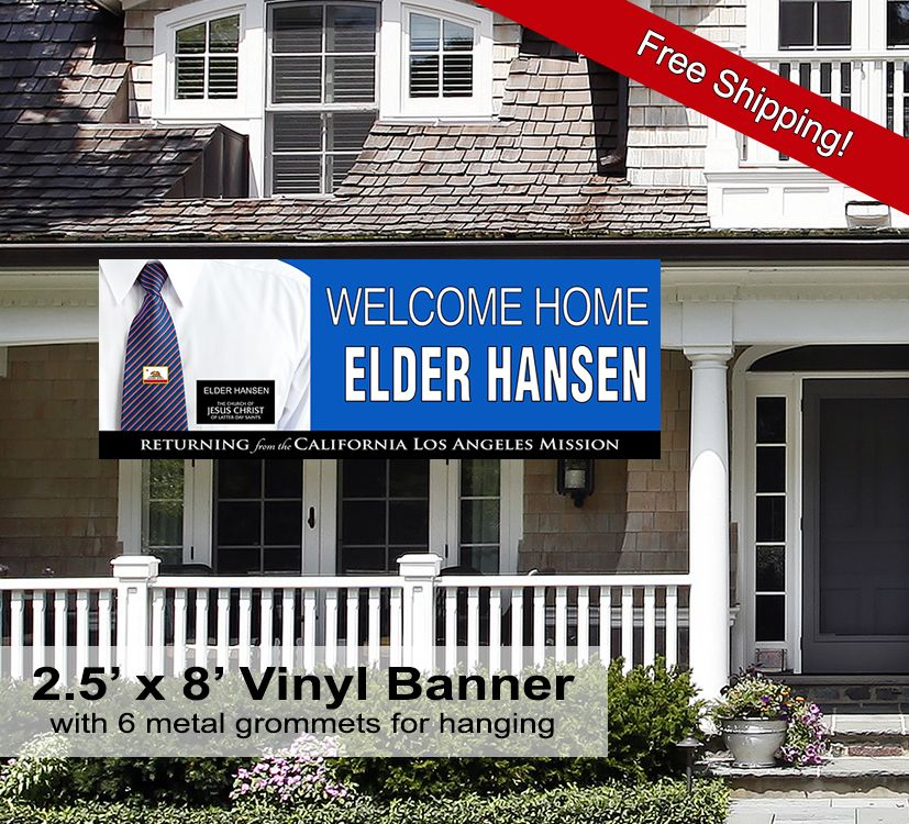 2 5 X 7 Indoor Outdoor Missionary Welcome Home Banner Welcome Your Missionary Home With This B Welcome Home Banners Welcome Home Images Welcome Home Signs