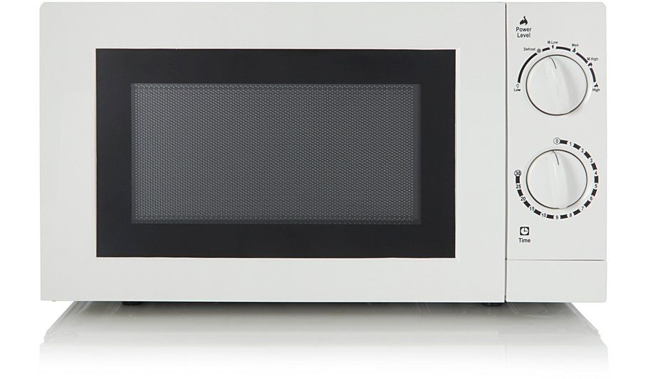 Home 17L 700W Manual Microwave White, read