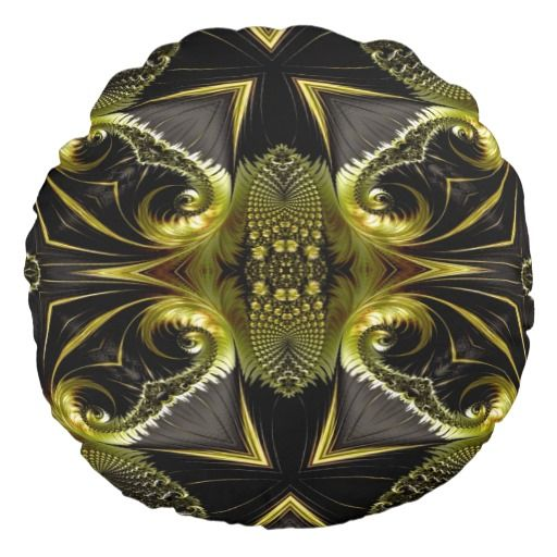 Gorgeous Abstract Round Throw Pillow