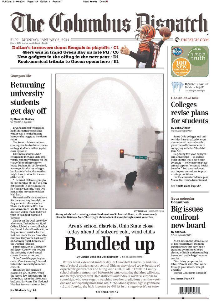 The Columbus Dispatch Published In Columbus Ohio Usa Newspaper Design Ohio Usa Columbus
