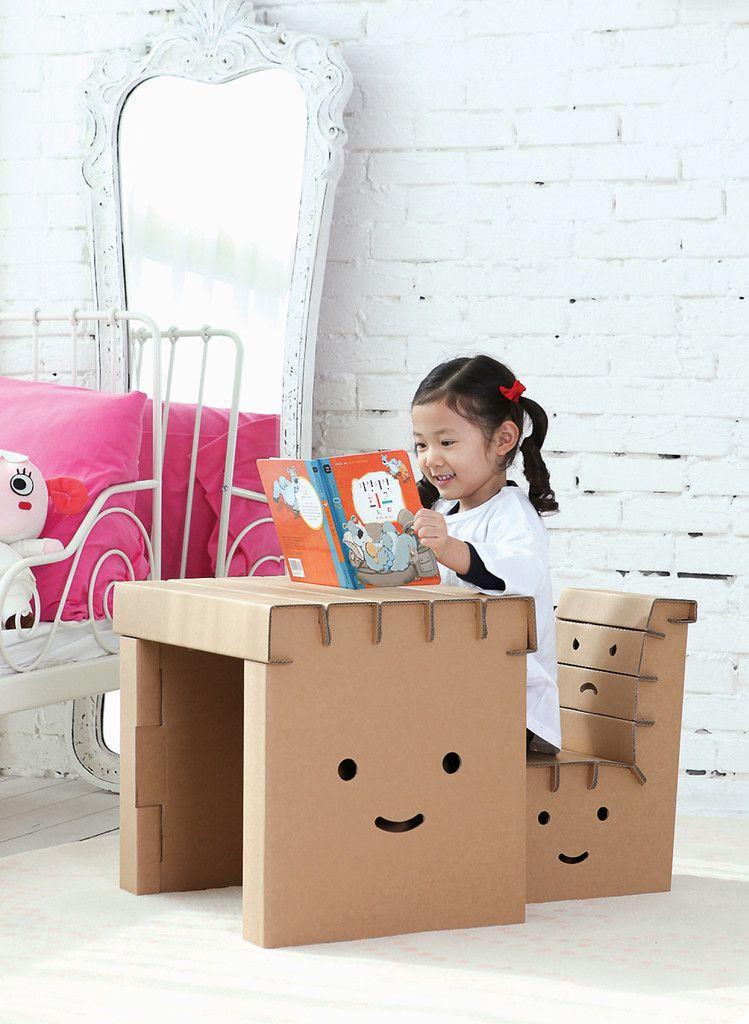 Miley #Cardboard #Desk #kids | Naiise